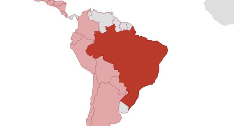 Brasilien Karte Welt.Brasilien