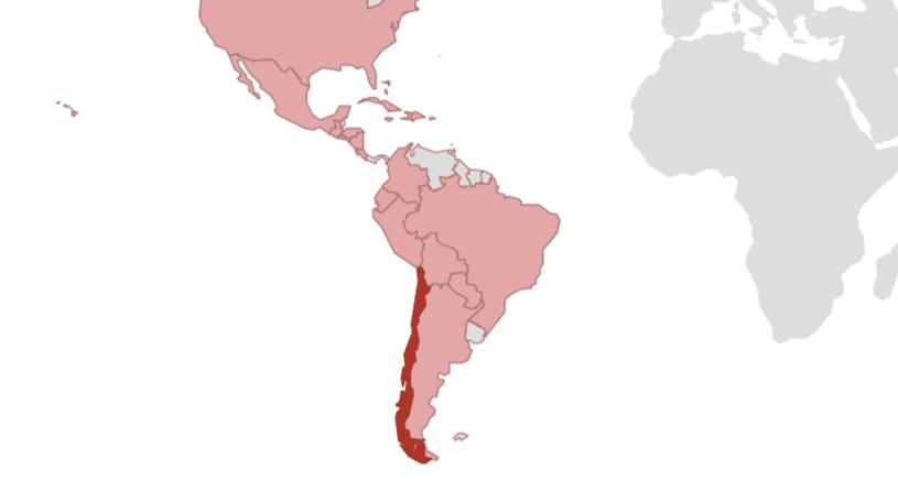 Lateinamerika Karte Gebirge.Chile