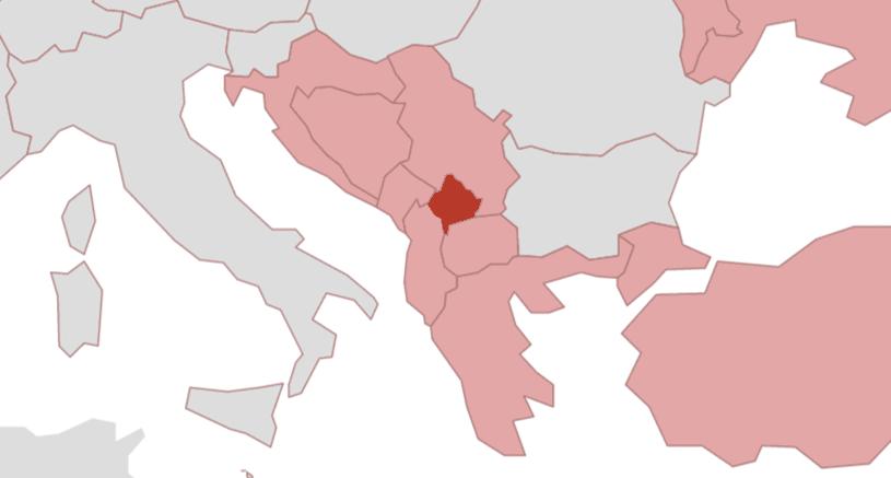 Peja Kosovo Karte.Kosovo