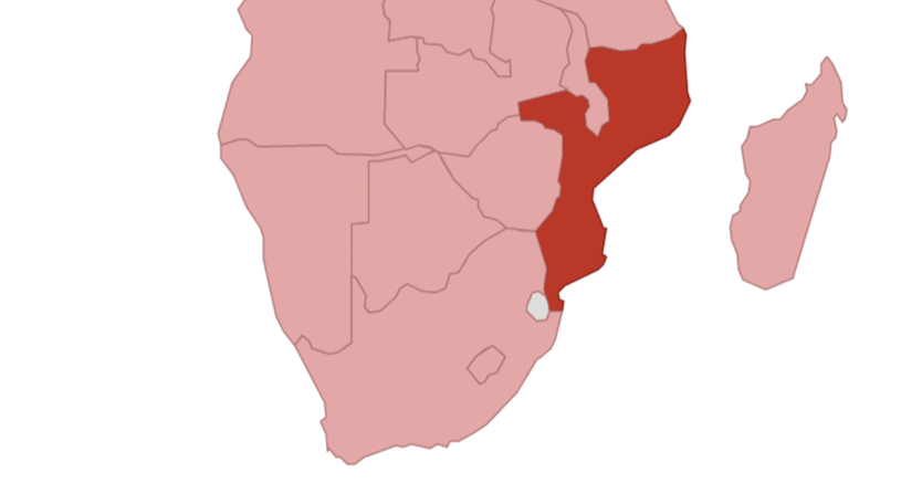 Mosambik Karte.Mosambik
