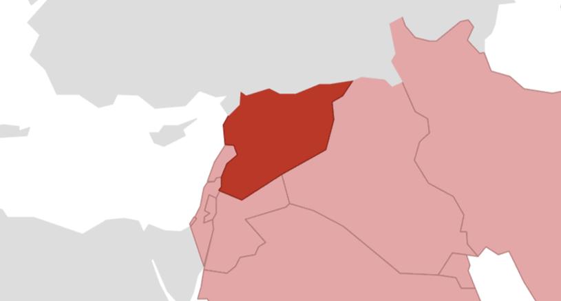 Syrien Karte.Syrien