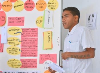 Timor-Leste. The trainers in the national youth promotion training programme learn how to apply training methods. © GIZ