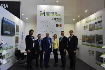 Moldova's debut at the ExpoReal 2017 trade fair in Munich, Germany, with its own stand. © Vera Illisoi