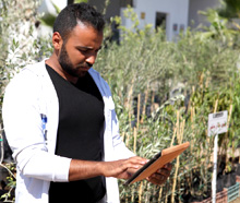 Innovative communication and information technology is used to recognise plant diseases. © GIZ/Firas Khelifa