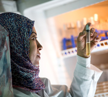 Egypt. Monitoring water quality in a laboratory. © GIZ