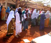 Guinea. Patients wait for distribution of ARV drugs. © GIZ