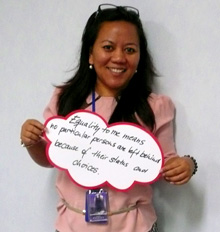 Indonesia. What equal rights mean to me. © GIZ