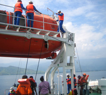 Timor-Leste. Practical exercises at sea are an important training element. © GIZ