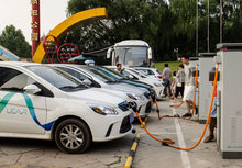 Electro-vehicles in Beijing (Picture: Daniel Bongardt)© GIZ