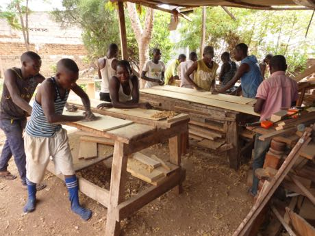 Congo: Young men are being trained as craftsmen.