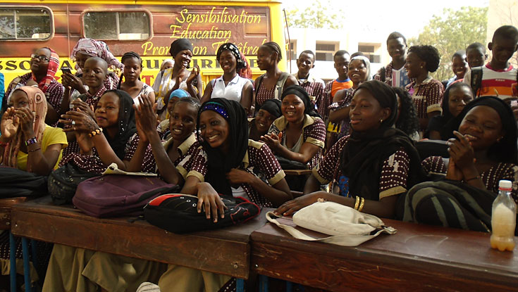 Students at shool in Mali