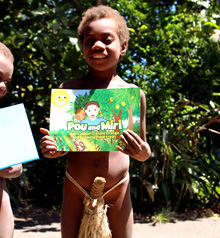 Pacific island region. 'Pou & Miri' is a series of booklets for children that target young Pacific readers and aim to educate them on issues relating to climate change. in the Pacific Island region; e.g. in Tanna; an island in Vanuatu. © GIZ