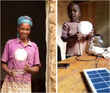 Solar lamps are a reliable source of light that does not pose a health hazard. Photo: GIZ/Razvan Dumitru Sandru