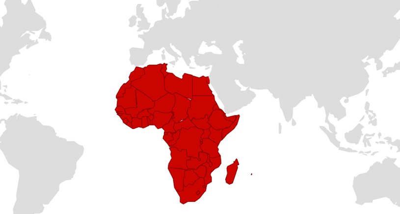 Map Africa