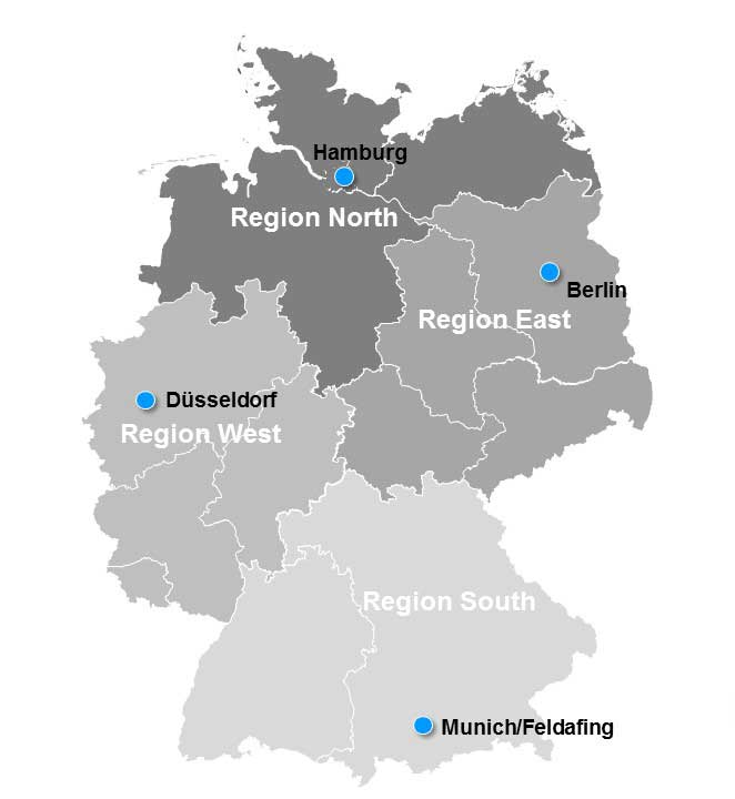 Regions Of Germany Map.Regional Offices Germany