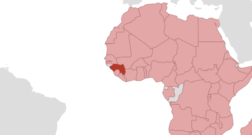 Malaria Karte Thailand.Guinea