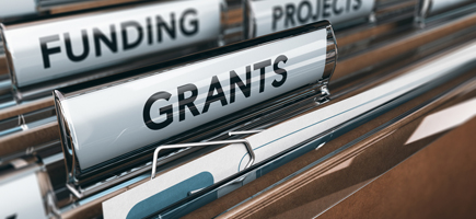 Filing maps with labels: funding, projects, grants